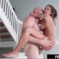 Varm og lett hard sex på en pornostøping med Layla London