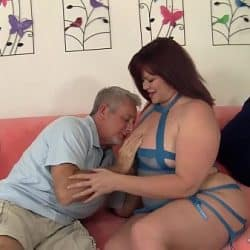 Den imponerende pikk til en eldre mann forlot henne veldig overrasket
